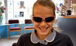 Gracie is our latest sunglass winner